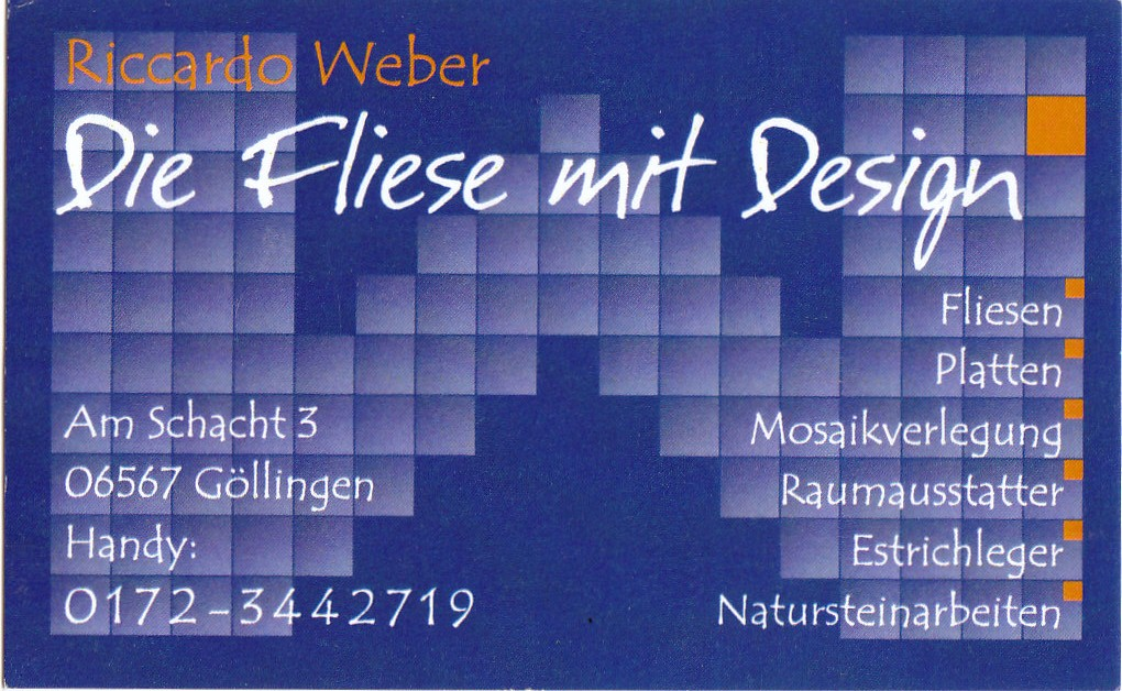 Logo Fliese mit Design